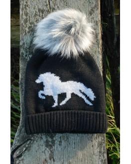 Gauti kvasthue med tøltende hest
